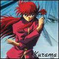 Kurama holding a rose avatar