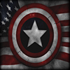 Captain America shield and flag avatar