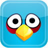 Blue bird face avatar