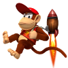 Diddy Kong rocket