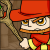Mage with staff avatar