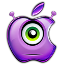Purple people eating apple avatar