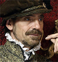 Jeremy Irons in costume avatar