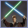 Crossed light sabers avatar