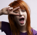 Hayley v-sign over eye avatar