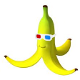 Banana with 3D glasses avatar
