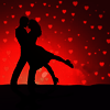 Love in red with black avatar