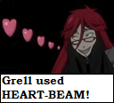 Grell heart beam avatar