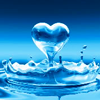 Water heart avatar