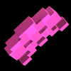 Pink space invader avatar