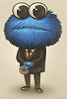 Cookie Monster in a suit avatar