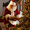 Santa at the tree avatar