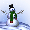 Snowman on a hill avatar
