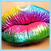 Rainbow lips avatar